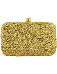 Tooba Handicraft Party Wear Hand Embroidered Box Clutch Bag Purse For Bridal, Casual, Party, Wedding …