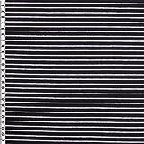 Ringel-Jersey, schwarz/grau, OekoTex 100, 155-160 cm breit,