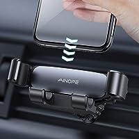 AINOPE [2020 Aktualisiert] Gravity Handyhalterung Auto Lüftung, Auto Handyhalterung mit Hakenartigen Clips Handfreier Kfz Handy Halterung Auto-Clamping Handy Halterung Auto für Alle Smartphones