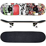 FunTomia® Skateboard 31 INCH (78,5cm) with a Canadian 7-ply maple deck / MACH1® ABEC-11 High Speed bearings / Wheels 53x34mm 100A