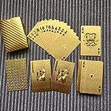Carte da gioco dorate impermeabili Carte da gioco poker in lamina d'oro per uso durevole