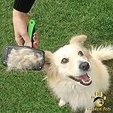 Golden Pets selbstreinigende Hundebürste & Katzenbürste | ALL-IN-ONE-Pflege für kurz-Langhaar geeignet | Einfache Reinigung durch EASY-CLEAN-Funktion | TOP Fellpflege für Ihren tierischen Freund - 5