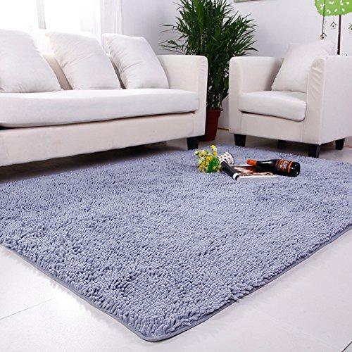 DULPLAY Korallen Teppich,Decorationindoor Teppich Europäische Einfache Sofa Seite Teppich Pflegeleicht Wohnzimmer Boden Küche Waschbar-Silber 160x230cm(63x91inch)