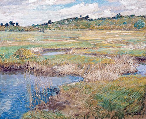 Das Museum Outlet-Childe Hassam-Die Concord Meadow-A3Poster