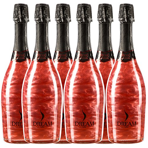 Sander's selection spumante e champagne dreamline rose premium, 6 bottiglie da 750 ml