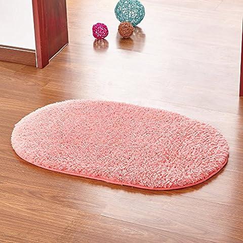 Casa Continental ultra suaves alfombras gruesas almohadillas de lana hermoso salón y dormitorio con literas deriva lateral en el panel de las alfombras de entrada ,60*160cm, elipse Pink