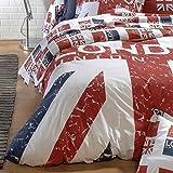 Bettbezug 260x 240cm 100% Baumwolle–London Union