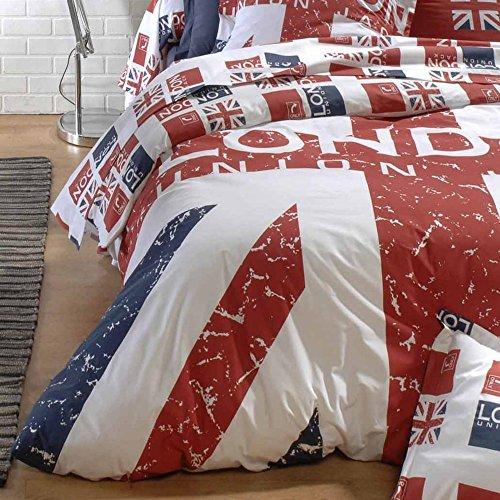 Housse de couette 200x200 cm 100% coton - LONDON Union Jack