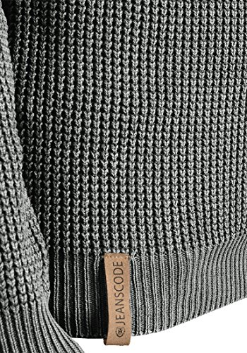 INDICODE Cael - Pull en Maille - Homme Iron (920)