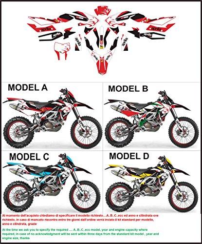 Emanuel & Co Kit adesivi decal stickers APRILIA SXV RXV 450 550 2006-2013 RACING (Geben Sie MODEL A oder B oder C oder D)