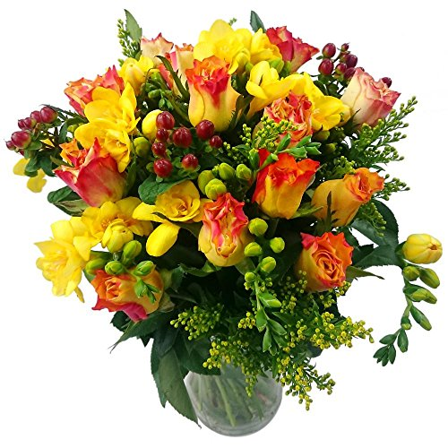 clare-florist-rose-and-freesia-fresh-flower-bouquet-orange-roses-and-yellow-freesia-mixed-with-solid