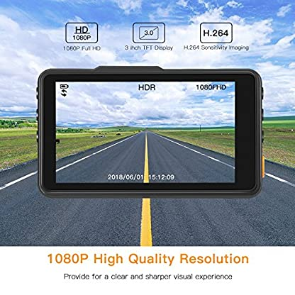 APEMAN-Dashcam-1080P-Full-HD-Autokamera-3-Zoll-LCD-Bildschirm-170–Weitwinkel-Wide-Dynamic-RangeG-Sensor-ParkmonitorBewegungserkennung-Loop-Aufnahme