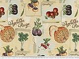 Zanderino ab 1m: Jacquard Dekostoff, Gemüse, multicolor,