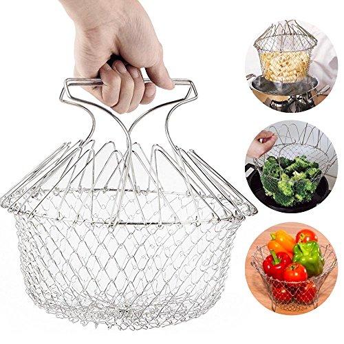 EpochAir Faltbare Fry Basket Dampf frittiertopf Dehnungs Magie frittierkorb Sieb