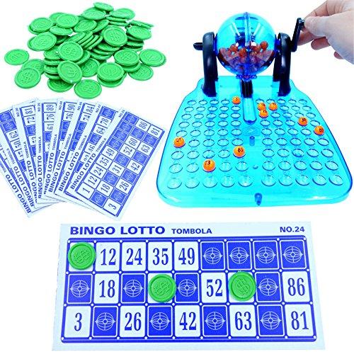 German Trendseller Bingo Spiel - NEU- ┃ Komplett - Set mit Bingotrommel ┃ Lotto ┃ Glücksspiel ┃ Party Spiel