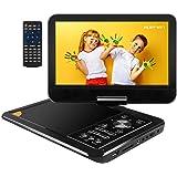 APEMAN Lecteur DVD Portable 11,5'' avec Ecran Pivotant 9,5'' Batterie Rechargeable Intégrée Carte SD et USB Prise en…