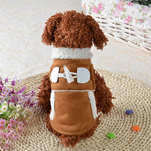 Cute Puppy Mantel, woopower Dog Motorrad-Style Winter Warm Jacken Kleidung Pet Apparel (Motorrad-halloween-kostüm)
