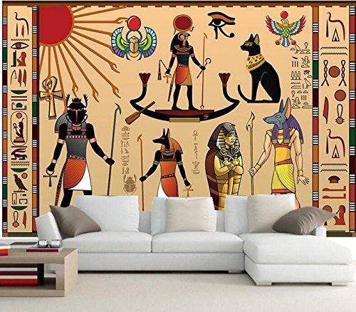 Jonp 3D Papel pintado Wallpaper Grandes Murales Personalizados Antiguo Egipto Celebration Hotel Salón Tv Sofá Dormitorio De Pared 3D Estereoscópico Papel Tapiz Fresco mural 5