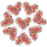 Confezione da 1000 Mini Fasce Elastiche per Capelli Piccoli per Capelli per Bambini, Acconciatura da Sposa, Piccoli Dreadlock