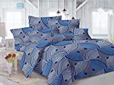 Mee Pra Striped Double Bedsheet With 2 P...