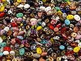20gr Checas Cuentas de Vidrio Dos Agujero, Beads SuperDuo 2,5×5 mm mix