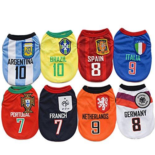 Amakunft Hundetrikot Weltmeisterschaft, Fußball-T-Shirt für Hunde, Kostüm, Nationalmannschaft, Hunde-Schlafanzug, FIFA-Hemd, Katzen, Einteiler für Hunde und Katzen