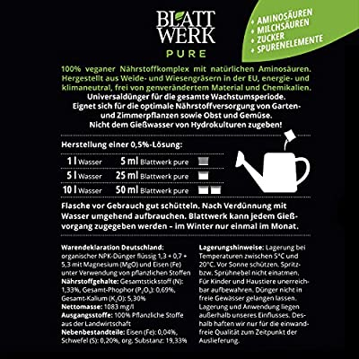 Blattwerk Pure Bio Düngemittel Pflanzendünger, 100% Vegan von Blattwerk auf Du und dein Garten