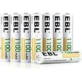 EBL 1100mAh AAA Ni-MH 1200 Ciclo de Pilas Recargables de 1,2V para los Equipos Domésticos con Estuches de Almacenamiento (8 P