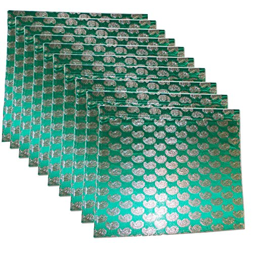 Kuber Industries™ Brocade Saree Cover Set of 10 Pcs (Green)