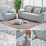 3 Sizter Sofabezug Sesselbezug Sofahussen Sofaabdeckung mit Anti-slip strips Elastisch Verfügbar Blumen-Muster