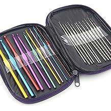 Vejaoo 20 Piezas Multicolor Ganchos De Crochet De Aluminio Para Tejer Artesanías Con Estuche