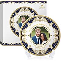 Royal Heritage H.r.h Harry y Megan Markle placa conmemorativa de la boda, porcelana, multicolor, 20 x 20 x 2 cm