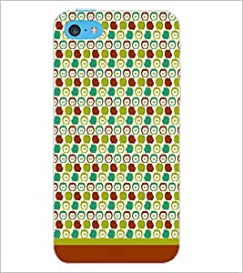 PrintDhaba Pattern D-1619 Back Case Cover for APPLE IPHONE 5C (Multi-Coloured)