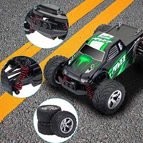 RC Auto kaufen Truggy Bild 3: MaxTronic RC Cars, RC Auto Rock Offroad Racing Fahrzeug Crawler Truck 2,4 Ghz 4WD High Speed 1:20 Radio Fernbedienung Buggy Elektro Fast Race Hobby- Blau (Grün)*
