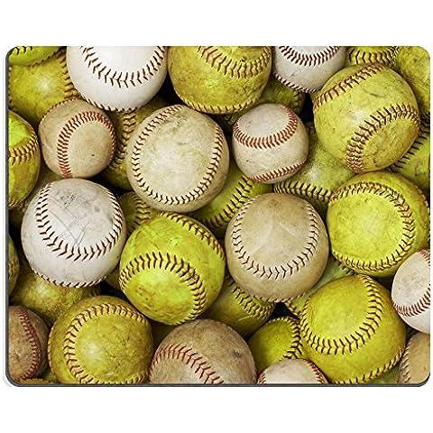 Luxlady Gaming Mousepad un' immagine di vecchi Softballs e palle immagine ID 4679388