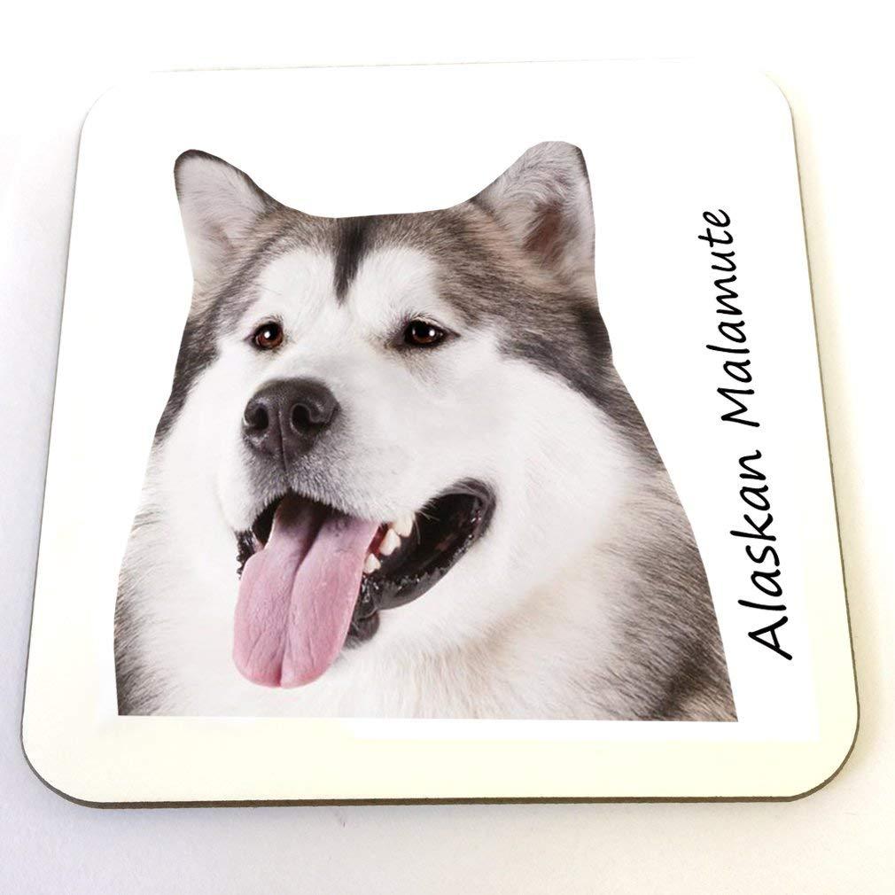 Alaskan Malamute Coaster – Many Dog Breeds Available 11oz Ceramic Coffee/Tea Cup for Christmas, Birthday, Secret Santa…