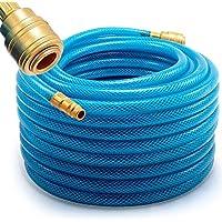Manguera para aire comprimido 20 m - 15bar + acoplamiento de conexión rápida - espesor de pared de 3 mm - presión de aire compresor de aire