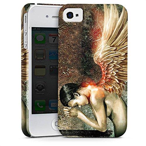 Apple iPhone X Silikon Hülle Case Schutzhülle fluegel flügel engel Premium Case glänzend