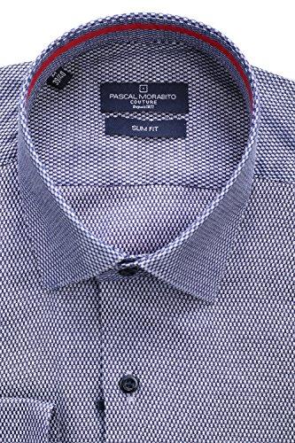 Pascal Morabito - Chemise habillée Mrt091 Marine Bleu