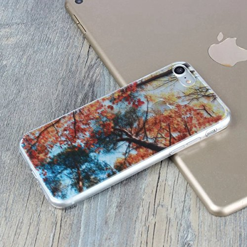 MOONCASE iPhone 7 Coque, Ultra Mince Motif Etui TPU Silicone Antichoc Housse Case pour iPhone 7 (Paysage 18) Paysage 03