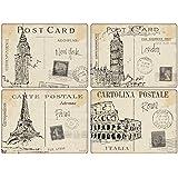 Pimpernel - Sets de Table - Postcard Sketches - Boîte de 4