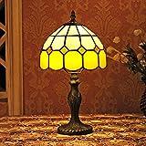 Lámpara del dormitorio Lámpara de cabecera Gweat 8 pulgadas mediterránea del estilo de Tiffany...