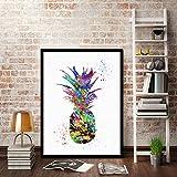 lianle Colorful Ananas Wandbild Gemälde Bilder Kunstdruck auf Leinwand für Home Moderne Dekoration, D: 50x70cm