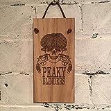 Peaky Blinders shabby chic in legno di quercia impiallacciato segno.