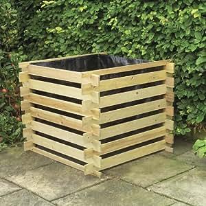 gardman kompostbeh lter aus holz 80 x 80 x 80 cm fsc. Black Bedroom Furniture Sets. Home Design Ideas