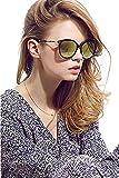 Brillantes con forma de diamantes de caramelos en forma de para mujer gafas de sol polarizadas de ojo de Sexy protección UV gafas de UV400, color marrón, talla One Size