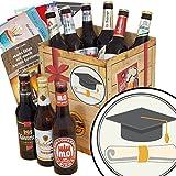 Zur Promotion | Geschenk Box Bier | Bierbox DDR | Zur Promotion | Bier Paket | Arzt Promotion Geschenk | INKL 3 Urkunden, 6 Geschenkkarten + Umschläge, Bier Bewertungsbogen