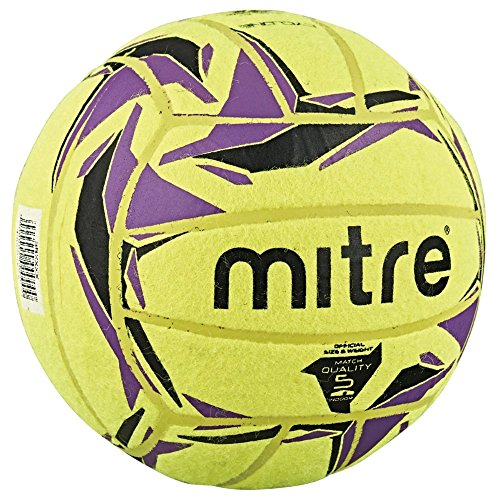 Mitre Cyclone Indoor Football Without Ball Pump, Yellow (Yellow/Black/Purple), Size 5