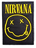 NIRVANA Classic Smiley Embroidered Iron On Sew On Aufnäher Bügelbild Patch 3.6