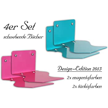 4er set unsichtbares b cherregal design edition schwebender b cher der ausgefallene. Black Bedroom Furniture Sets. Home Design Ideas